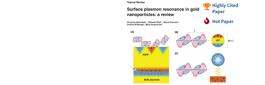 "<b> Topical Review on plasmonics becomes ""hot paper"" on ISI WoS"